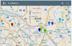 学生賃貸住宅地図