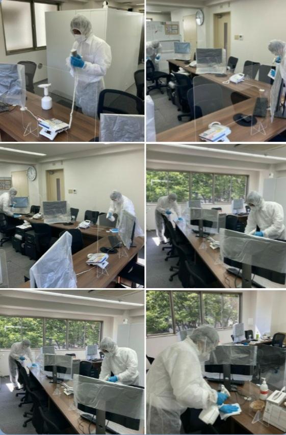 支援センター除菌